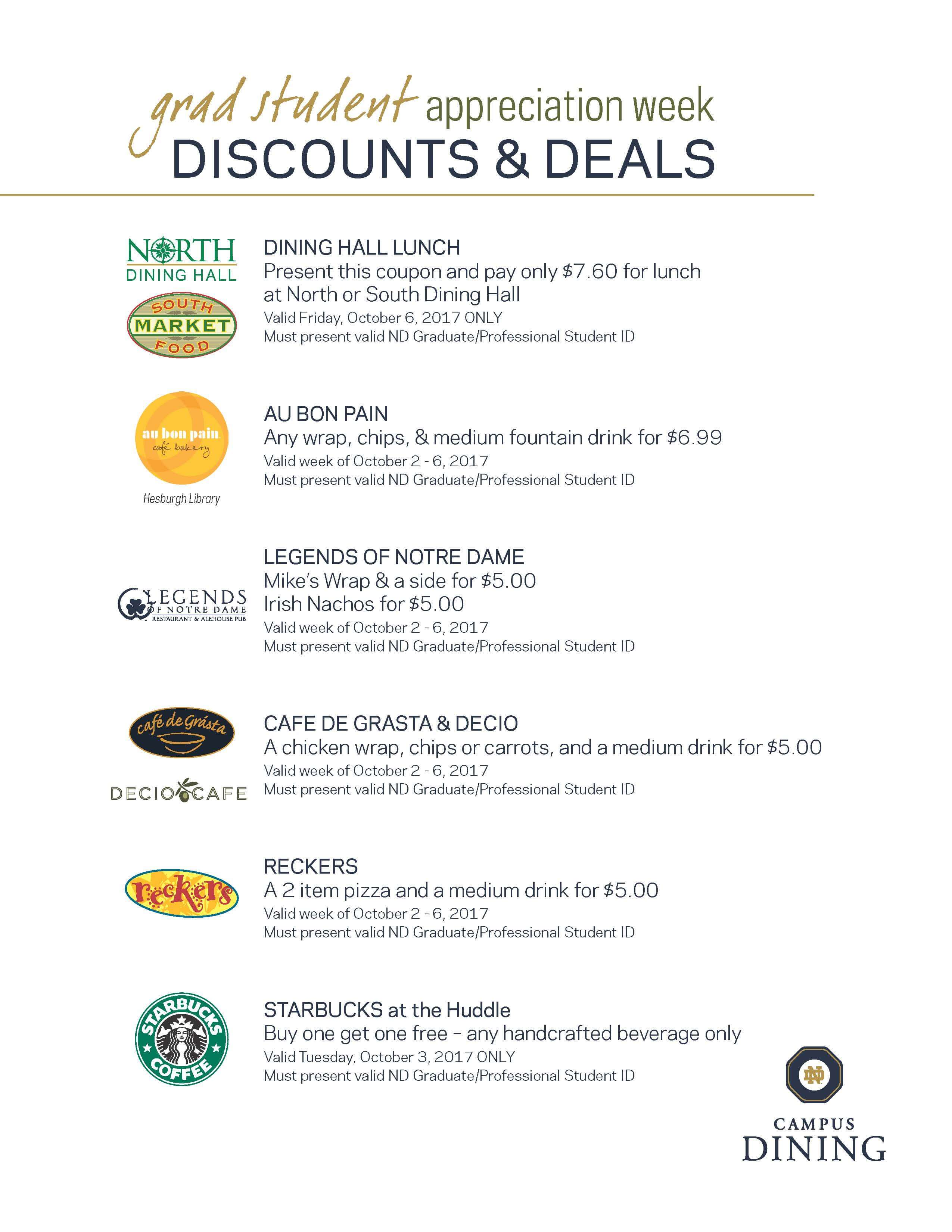 Campus Dining Coupons Revised